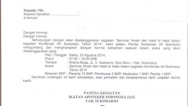 Surat Undangan KONFERCAB IAI SUKOHARJO 2014